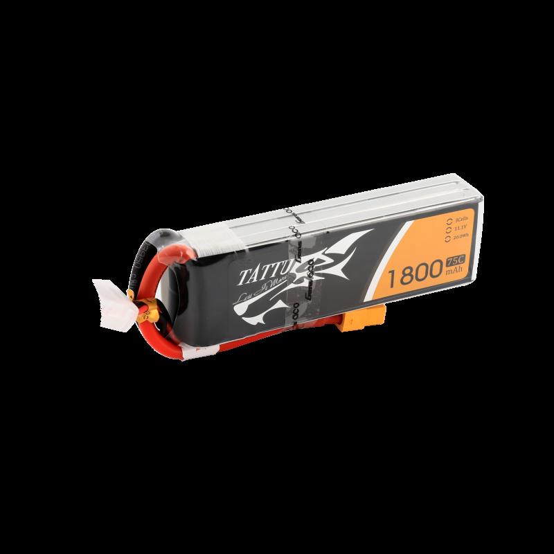 Batterie Lipo Tattu 1800mAh 11.1V 75C 3S