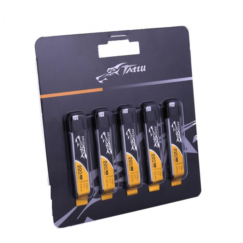 Batterie Lipo Tattu 1S 220mAh 45C - Pack de 5