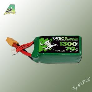 RACE LITHIUM 1300MAH 70C 4S - XT-60 (150GRS)