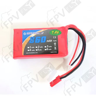 Batterie LiPo 2S 860 mah 35C Fuse