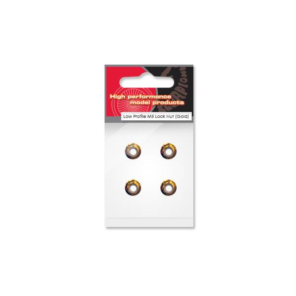 Scorpion Low Profile M5 Lock Nut (set de 4 CCW - Or)