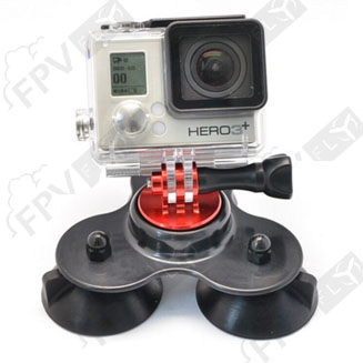 Gopro support à ventouse triangle