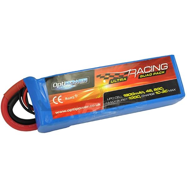 Batterie lipo 4S 1800 mAh 50C - OPTIPOWER
