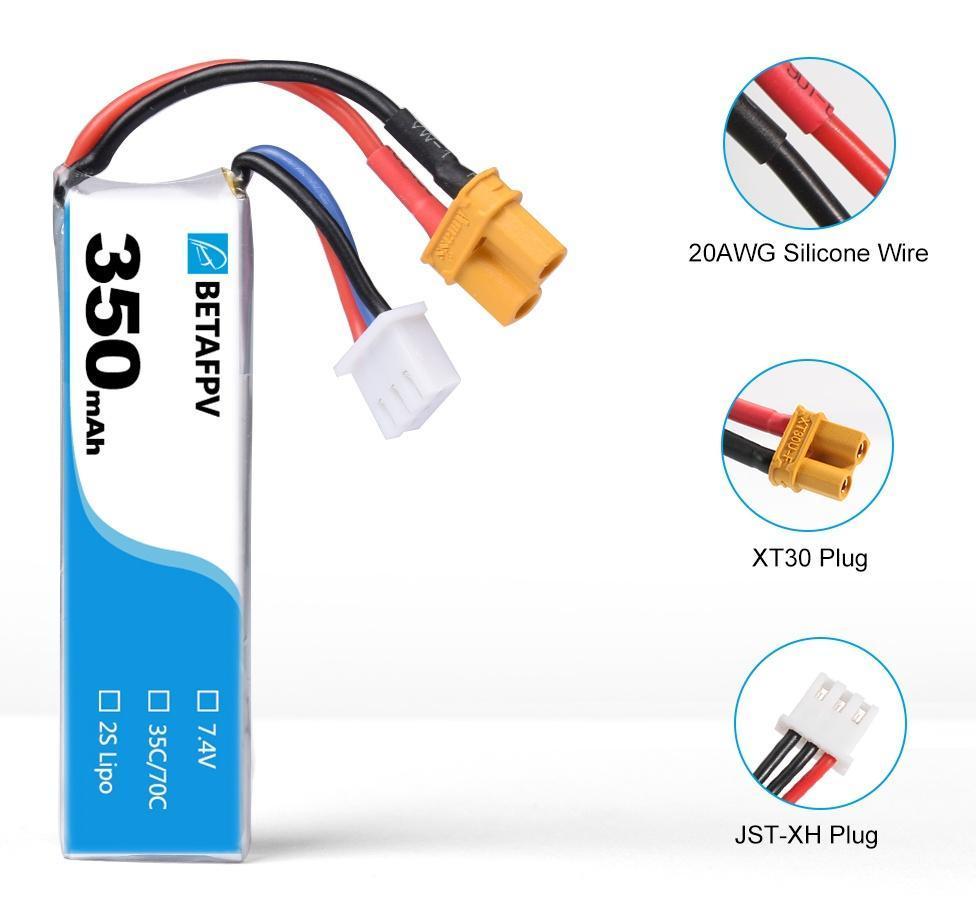 Batterie LiPo 2S 350mah XT30 (2PCS)