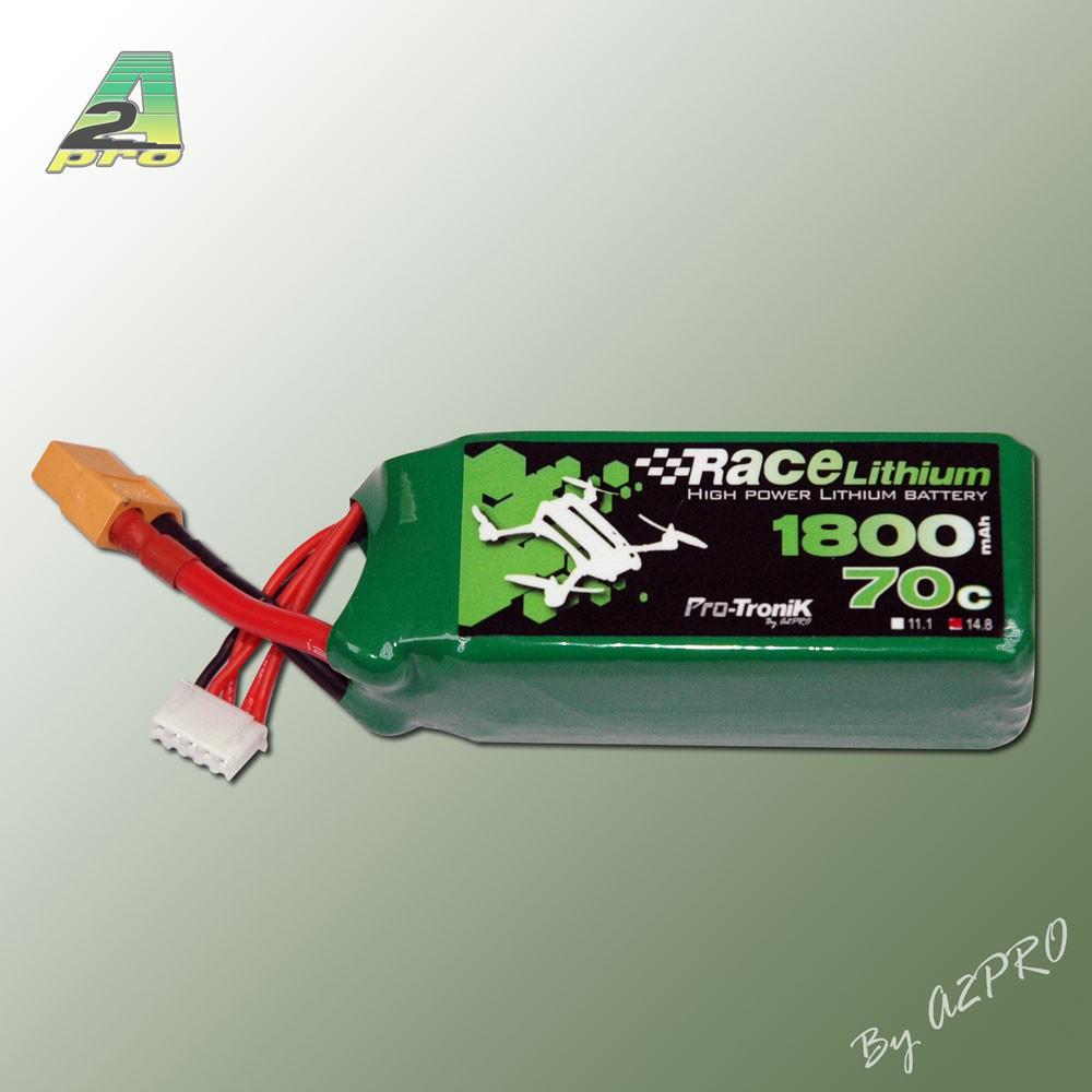 RACE LITHIUM 1800MAH 70C 4S - XT-60 (200GRS)
