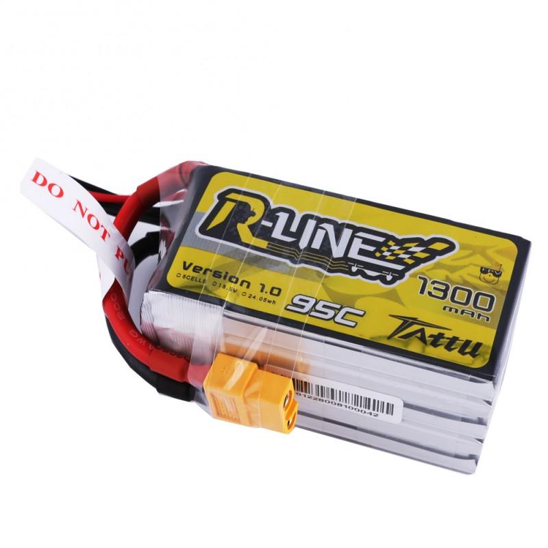 Batterie Lipo Tattu R-Line 1300mAh 95C 5S