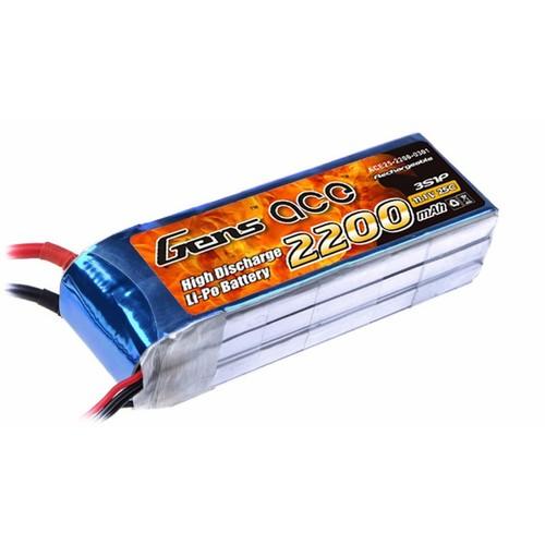 Batterie Lipo Gens Ace 2200mAh 11.1V 25C 3S