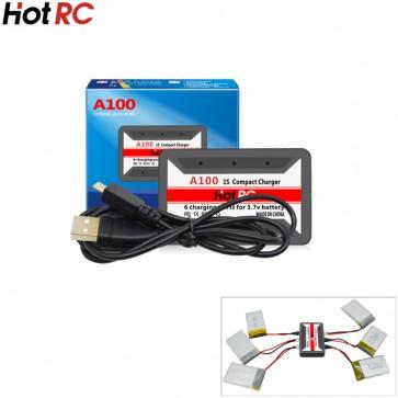 HotRc A100 6 en 1 3.7V Lipo Chargeur USB