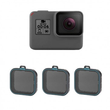 Telesin Gopro 5,6,7 Black ND filter ND4,8,16 set