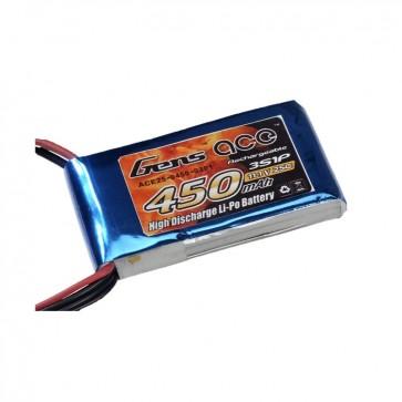 Batterie Lipo Tattu 450mAh 11.1V 25C 3S