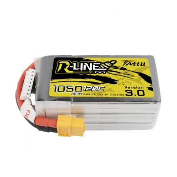 Tattu R-Line Version 3.0 1050mAh 22.2V 120C 6S - XT60
