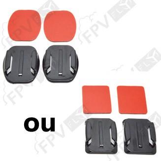 2x Fixations adhésives plates ou incurvées