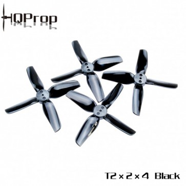 HQ T2X2X4 Polycarbonate Durable Prop (Noir) (2x CW, 2x CCW)