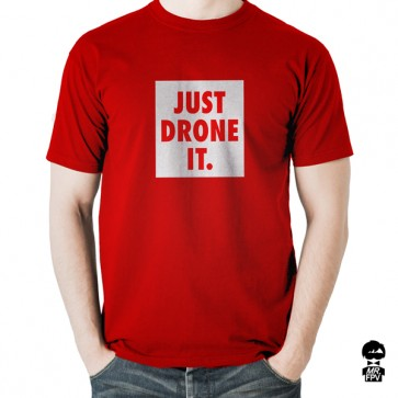 T-Shirt Just Drone IT - Rouge