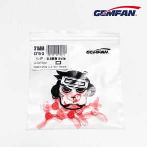 GEMFAN 1219-3 31MM 0.8MM SHAFT - Rouge