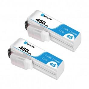 BETAFPV 450mAh 4S 75C Lipo Battery (2PCS) - XT30