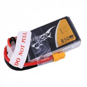 Batterie Lipo Tattu 850mAh 11.1V 75C 3S - XT30