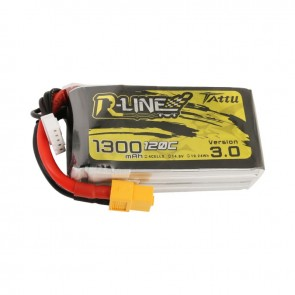 Batterie Lipo Tattu R-Line Version 3.0 1300mAh 14.8V 120C 4S - XT60