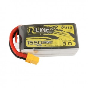 Batterie Lipo Tattu R-Line Version 3.0 1550mAh 14.8V 120C 4S - XT60