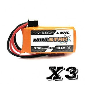 CNHL 350mah 3S 30C (3 packs) JST
