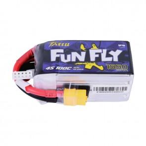 Batterie Lipo Tattu Funfly 1550mAh 14.8V 100C 4S - XT60