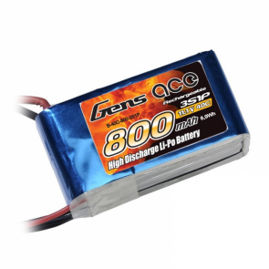 Batterie Lipo Gens Ace 800mAh 11.1V 40C 3S