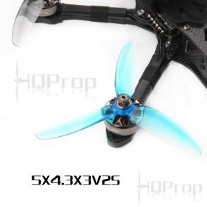 HQProp 5x4.3x3 V2S POPO PC (Blue) (2x CW, 2x CCW)