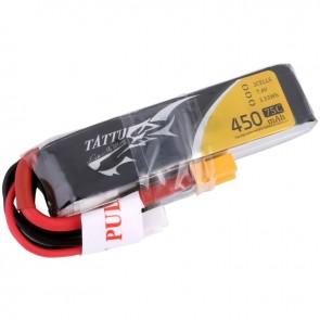 Batterie Lipo Tattu 450mAh LONG SIZE 2S 75C 7.4V - XT30