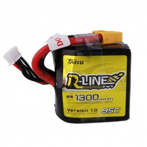 Batterie Lipo Tattu R-Line 1300mAh 95C 4S Square lipo battery pack