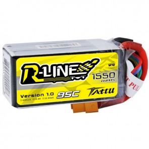 Batterie Lipo Tattu R-Line 1550mAh 95C 4S - XT60