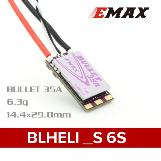 EMAX Bullet Series BLHeli - S 35A Brushless ESC - 6S