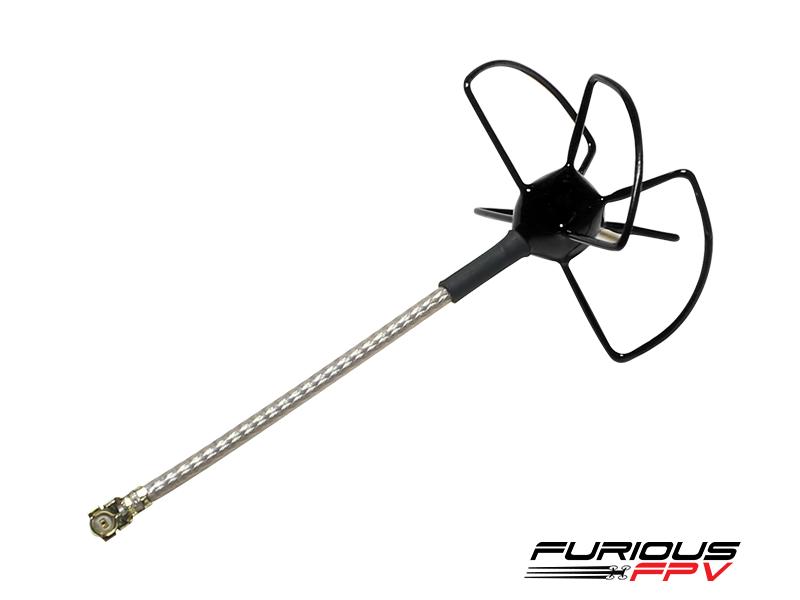 Furious FPV 48mm 5.8Ghz U.FL RHCP Circular Antenna (Noir)