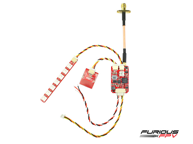Combo FuriousFPV Stealth Long Range VTX 700mW + Bluetooth + LED