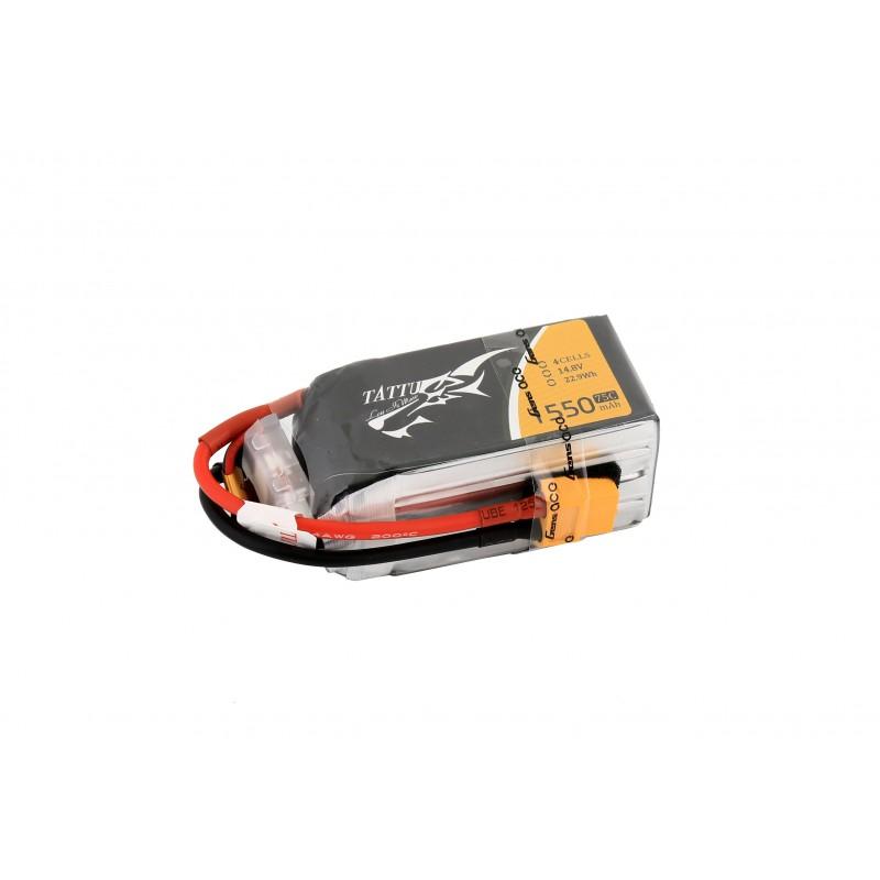 Batterie Lipo Tattu 1550mAh 14.8V 75C 4S
