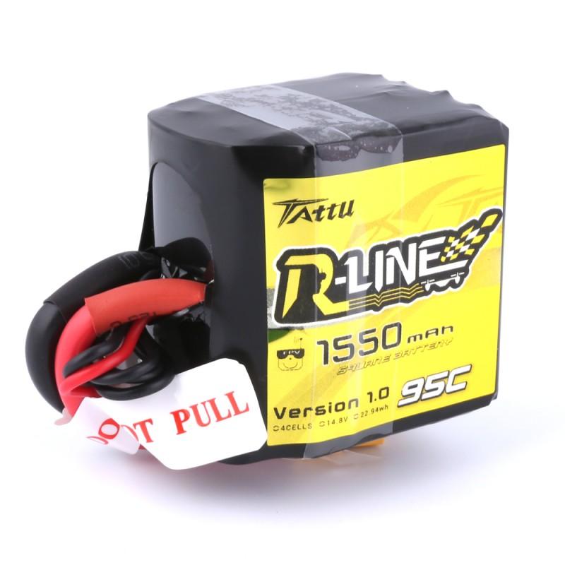 Batterie Lipo Tattu R-Line 1550mAh 95C 4S1P Square lipo battery pack