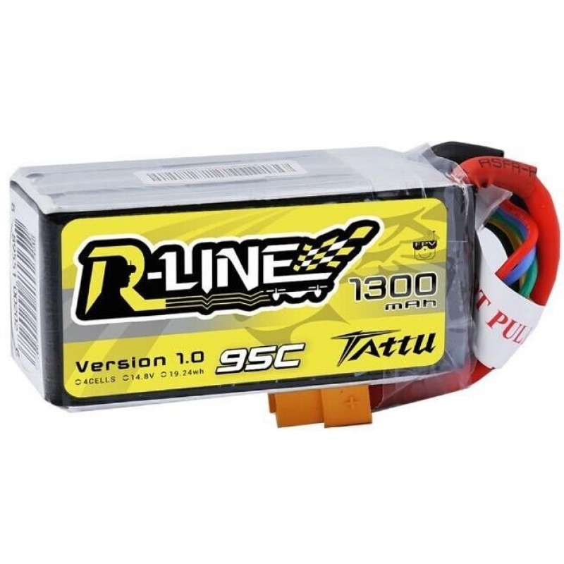 Batterie Lipo Tattu R-Line 1300mAh 4S 95C