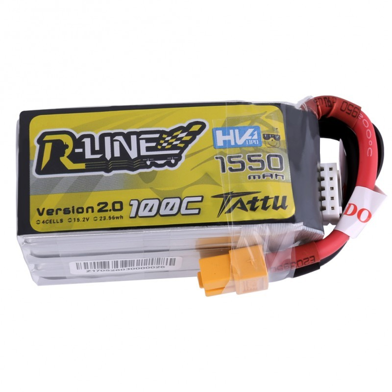 Batterie Lipo Tattu R-Line 1550mAh 100C 4S 15.2V High Voltage
