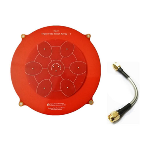 Antenne Long Range - Triple feed patch Array 15cm